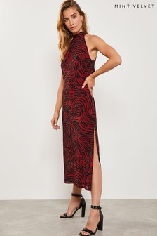 Mint Velvet Naomi Zebra Maxi Halter Dress
