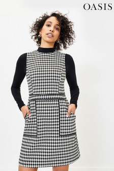 Oasis Dogtooth Mini Shift Dress