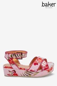 Baker by Ted Baker Pink Samba Flatform Sandals