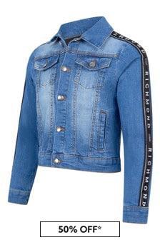 John Richmond Girls Blue Cotton Jacket