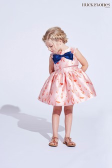 Hucklebones Pink Floral Brocade Dress