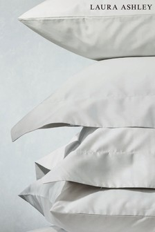 Set of 2 Laura Ashley 400 Thread Count Cotton Pillowcases