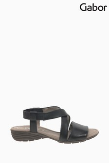 Gabor Black Ensign Leather Sandals