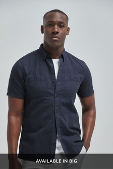 Cotton/Linen Twin Pocket Overdye Shirt