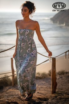 Animal Green Luluu Woven Maxi Dress