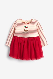 Christmas Pudding Tutu Dress (0mths-2yrs)