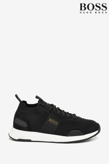 BOSS Black Titanium Runn Trainers