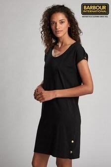 Barbour® International Black Jersey Rally Dress