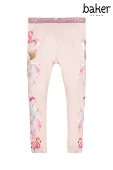 baker by Ted Baker Light Pink Flamingo Placement Leggings