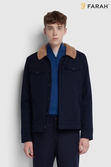 Farah True Navy Vadher Trucker Jacket