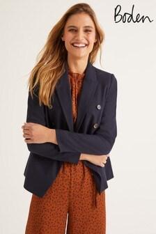 Boden Navy Addlestone Tweed Blazer