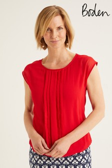 Boden Red Dakota Jersey Top
