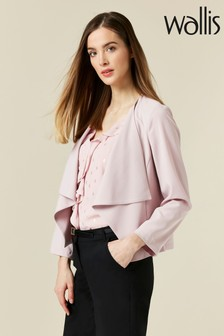 Wallis Blush Short Waterfall Jacket