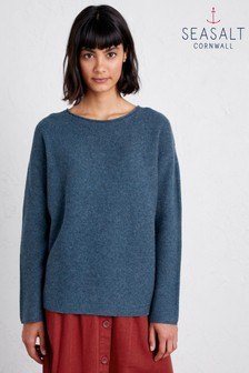 Seasalt Petite Fruity II Monty Blue Jumper