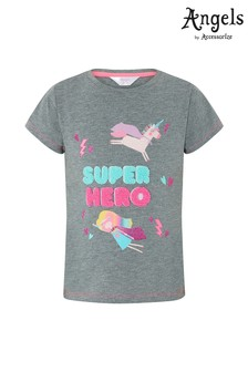 Angels by Accessorize Grey Super Hero T-Shirt