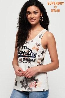 Superdry Vintage Logo Photo Rose All Over Print Vest