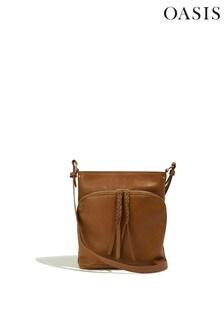 Oasis Tan Cross Body Pocket Bag