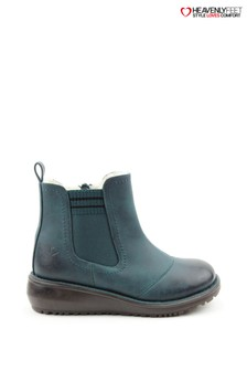 Heavenly Feet Green Milan Ocean Warm Casual Ankle Boots