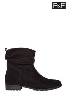 F&F Black Slouch Ankle Boots