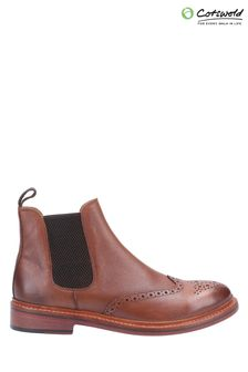 Cotswold Brown Siddington Leather Goodyear Welt Boots