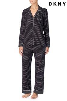DKNY Black Stars Notch Collar Pyjama Set