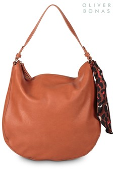 Oliver Bonas Brown Slouch Shoulder Bag