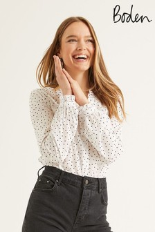 Boden Cream Pippa Blouse