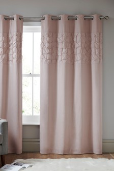 Texture Pleats Eyelet Curtains