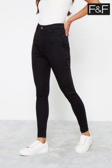 F&F Black Contour Stay Jeans