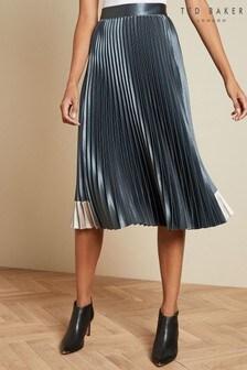 Ted Baker Blue Midi Skirt