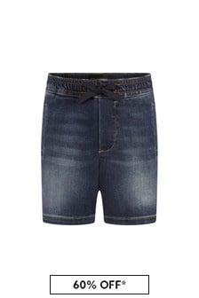 Dolce & Gabbana Kids Dolce & Gabbana Baby Boys Navy Cotton Shorts