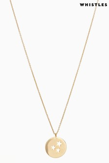 Whistles Gold Tone Star Pendant Necklace