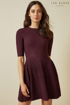 Ted Baker Purple Knitted Skater Dress