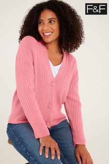 F&F Pink Knitted Cardigan