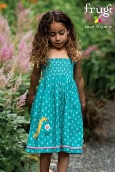 Frugi Organic Cotton Sun Dress - Green Ducks