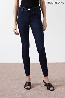 River Island Molly Mid Rise Fettuccine Jeans