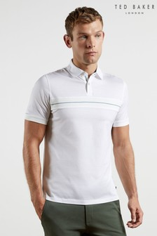 Ted Baker Trimzy Short Sleeve Poloshirt With Chest Panel
