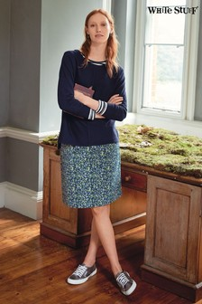 White Stuff Blue Clocktower High Tide Skirt