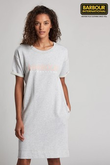 Barbour® International Grey Fullcourt Logo Sweater Dress