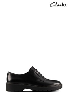 Clarks Black Leather Witcombe Lace Shoes