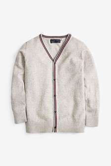 Tipped Button Through Cardigan (3-16yrs)