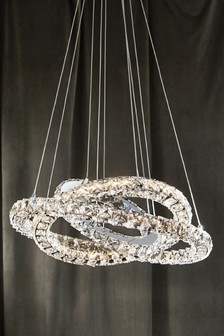 Silver ceiling lights silver flush hanging ceiling lights next coronas led ring 5 light pendant aloadofball Gallery
