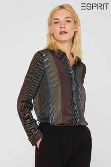 Esprit Long Sleeved Multicoloured Dotted Blouse