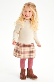 Younger Girls Kilt And Tights Set (3mths-10yrs)