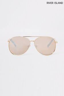 River Island Gold Chain Sunglasses