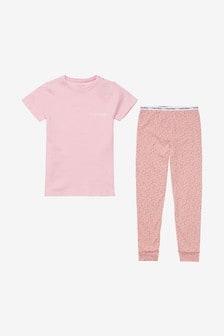 Pyjama Calvin Klein Modern en coton rose