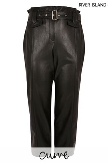 River Island Curve Black Plus Peg Trousers