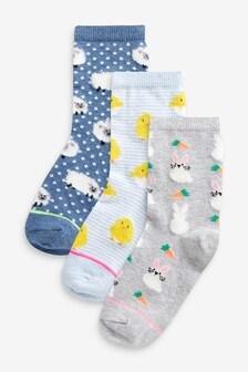 3 Pack Animal Socks