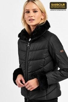 Barbour® International Premium Black Waxed Baseline Jacket