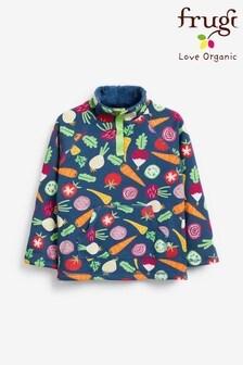Frugi GOTS Organic Vegetable Print Fleece Lined Sweatshirt